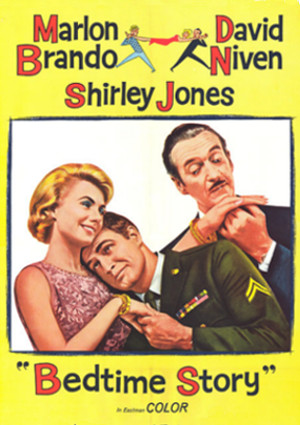 Bedtime Story (1964) starring Marlon Brando, David Niven and Shirley Jones