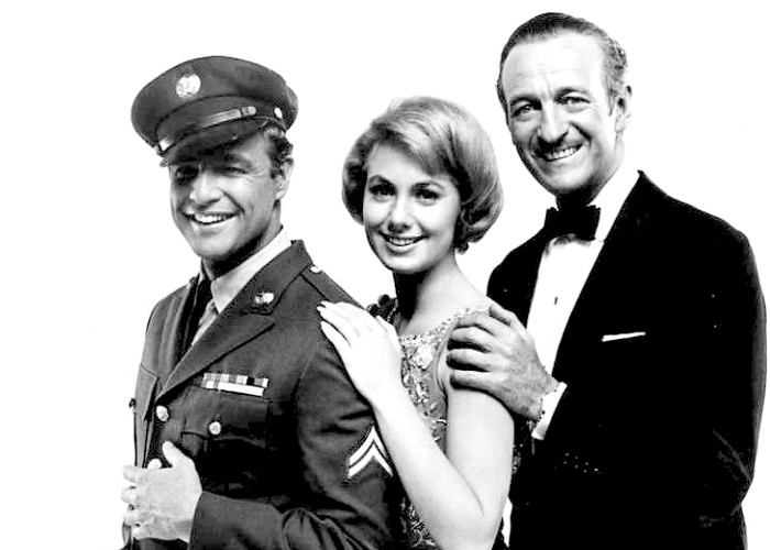 Marlon Brando, Shirley Jones and David Niven in Bedtime Story