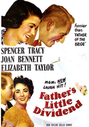 Spencer Tracy and Elizabeth Taylor in Father's Little Dividend