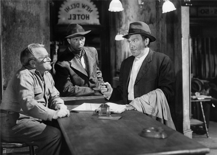 Sterling Hayden, Bernard Gorcey and Thomas Mitchell in Journey Into Light (1951)