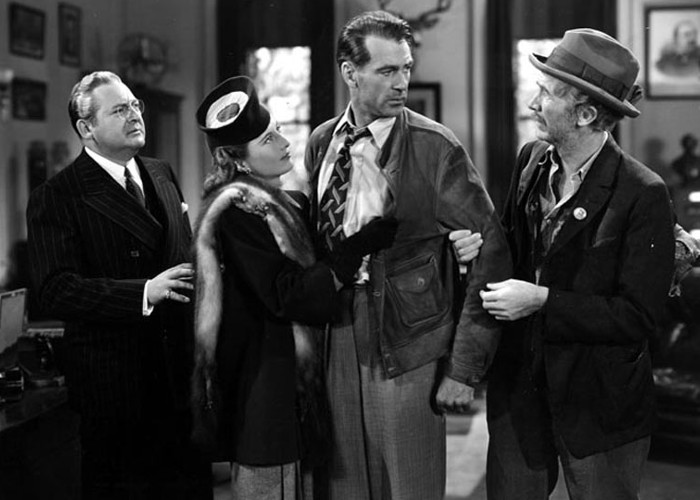 Gary Cooper, Walter Brennan, Barbara Stanwyck, and Edward Arnold in Meet John Doe