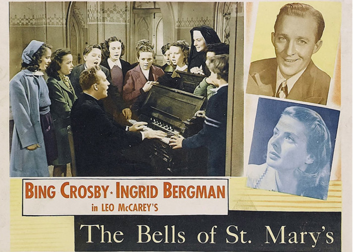 Bing Crosby and Ingrid Bergman starring in The Bells of St. Mary's
