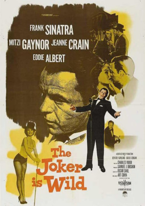 Poster from the Frank Sinatra's movie The Jocker is Wild