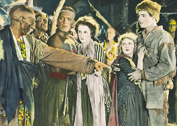 Wallace Beery, Barbara Bedford, Lillian Hall, Harry Lorraine, and Alan Roscoe in The Last of the Mohicans
