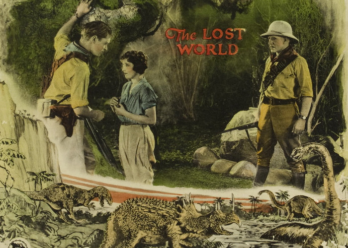 Lloyd Hughes, Bessie Love, and Lewis Stone in The Lost World