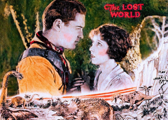 Lloyd Hughes and Bessie Love in The Lost World