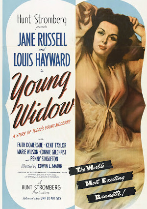 Jane Russell and Louis Hayward in Young Widow