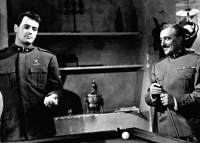 Rock Hudson and Vittorio De Sica in A Farewell to Arms