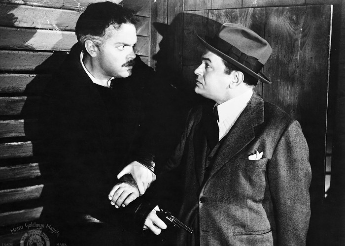 Edward G. Robinson and Orson Welles in The Stranger