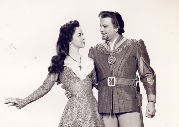 Kathryn Grayson and Oreste Kirkop in The Vagabond King