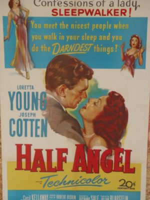 Joseph Cotten and Loretta Young in Half Angel