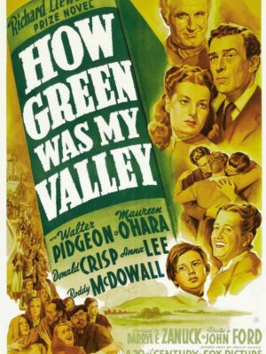 Maureen O'Hara, Roddy McDowall, Sara Allgood, Donald Crisp, and Walter Pidgeon in How Green Was My Valley