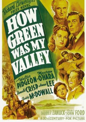 Maureen O'Hara, Roddy McDowall, Sara Allgood, Donald Crisp, and Walter Pidgeon in How Green Was My Valley