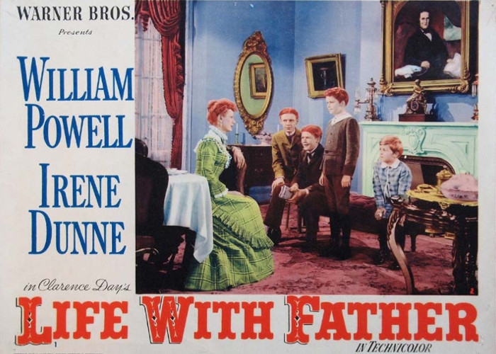 Irene Dunne, Johnny Calkins, Jimmy Lydon, Martin Milner, and Derek Scott in Life with Father (1947)