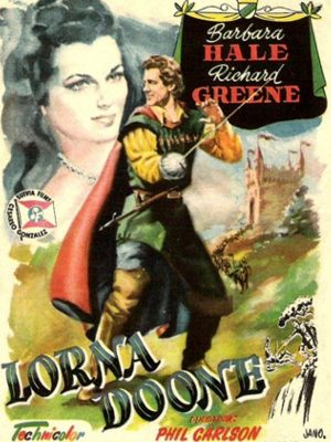 Richard Greene and Barbara Hale in Lorna Doone (1951)