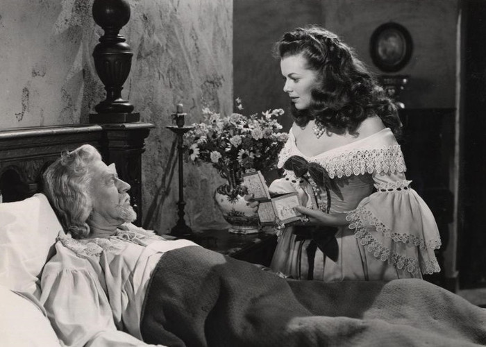 Barbara Hale and Carl Benton Reid in Lorna Doone
