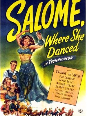 Yvonne De Carlo, David Bruce, and Rod Cameron in Salome Where She Danced
