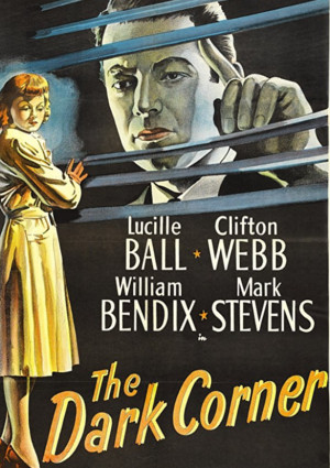 Lucille Ball and Mark Stevens in The Dark Corner