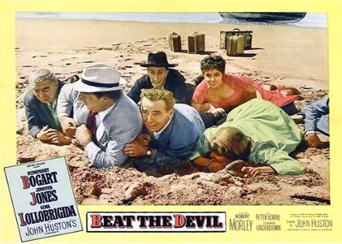 Humphrey Bogart, Peter Lorre, Gina Lollobrigida, and Robert Morley in Beat the Devil (1953)