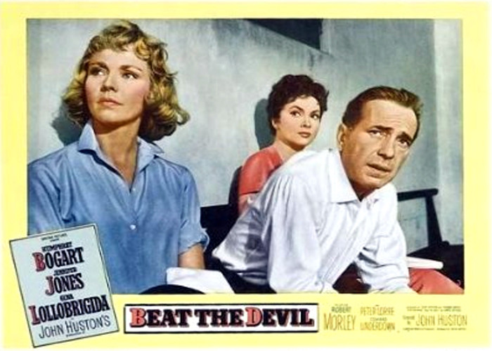 Humphrey Bogart, Jennifer Jones, and Gina Lollobrigida in Beat the Devil (1953)