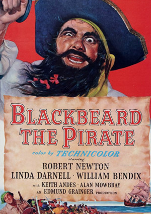 Robert Newton in Blackbeard, the Pirate (1952)