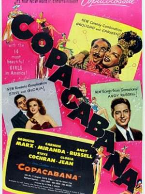 Groucho Marx, Carmen Miranda, Steve Cochran, Gloria Jean, and Andy Russell in Copacabana (1947)