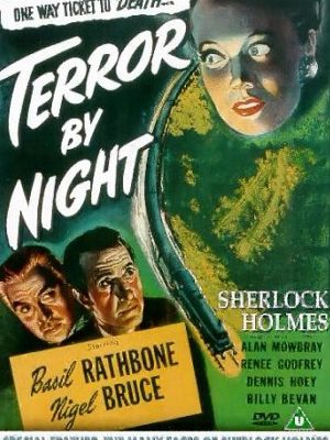 Basil Rathbone, Nigel Bruce, and Renee Godfrey in Terror by Night (1946)