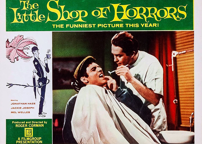 Jonathan Haze and John Herman Shaner in The Little Shop of Horrors (1960)