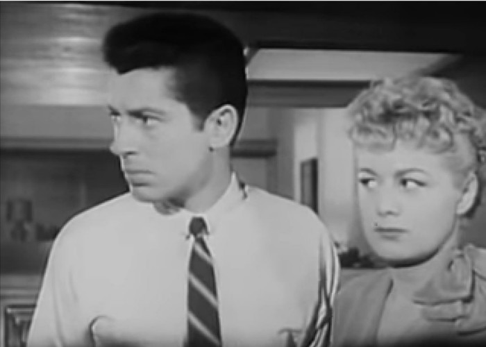 Shelley Winters, Farley Granger, and Archie in Behave Yourself! (1951)