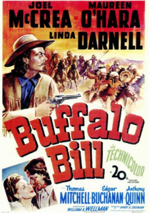Maureen O'Hara and Joel McCrea in Buffalo Bill (1944)