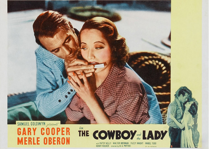 Gary Cooper and Merle Oberon in The Cowboy and the Lady (1938)
