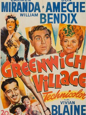 Carmen Miranda, Don Ameche, William Bendix, and Vivian Blaine in Greenwich Village (1944)
