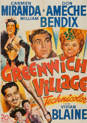 Carmen Miranda, Don Ameche, William Bendix, and Vivian Blaine in Greenwich Village (1944)