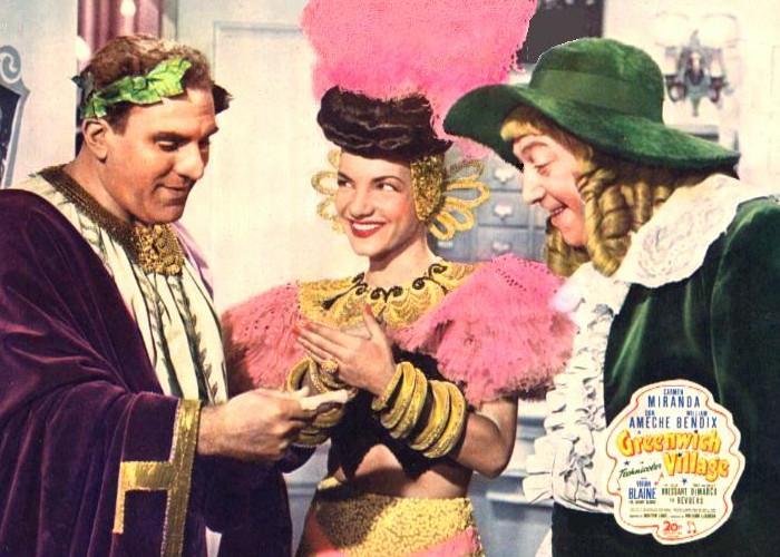 Carmen Miranda, William Bendix, and B.S. Pully in Greenwich Village (1944)