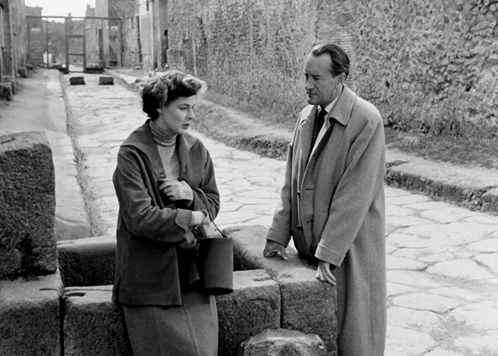 Ingrid Bergman and George Sanders in Viaggio in Italia (1954)
