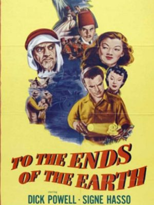 Ludwig Donath, Signe Hasso, Maylia, Dick Powell, and Vladimir Sokoloff in To the Ends of the Earth (1948)