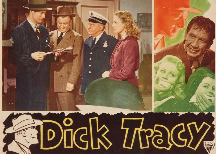 Joseph Crehan, Morgan Conway, Anne Jeffreys, and Lyle Latell in Dick Tracy (1945)