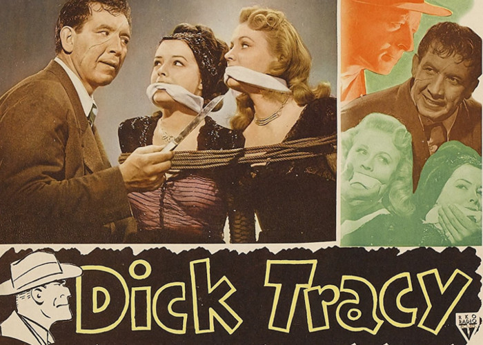 Jane Greer, Anne Jeffreys, and Mike Mazurki in Dick Tracy (1945)