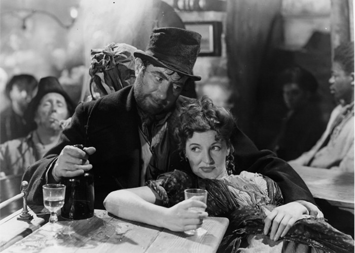Robert Newton and Kay Walsh in Oliver Twist (1948)