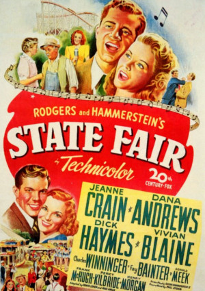 Dana Andrews, Jeanne Crain, Fay Bainter, Vivian Blaine, Dick Haymes, and Charles Winninger in State Fair (1945)