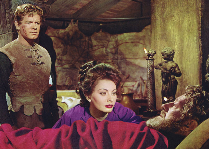 Alec Guinness, Sophia Loren, and Stephen Boyd in The Fall of the Roman Empire (1964)