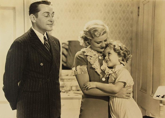 Shirley Temple, James Dunn, and Claire Trevor in Baby, Take a Bow (1934)