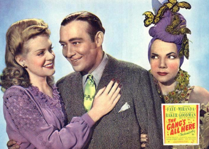 Carmen Miranda, Edward Everett Horton, and Charlotte Greenwood in The Gang's All Here (1943)