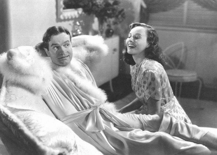 Bob Hope and Paulette Goddard in Nothing But the Truth (1941)