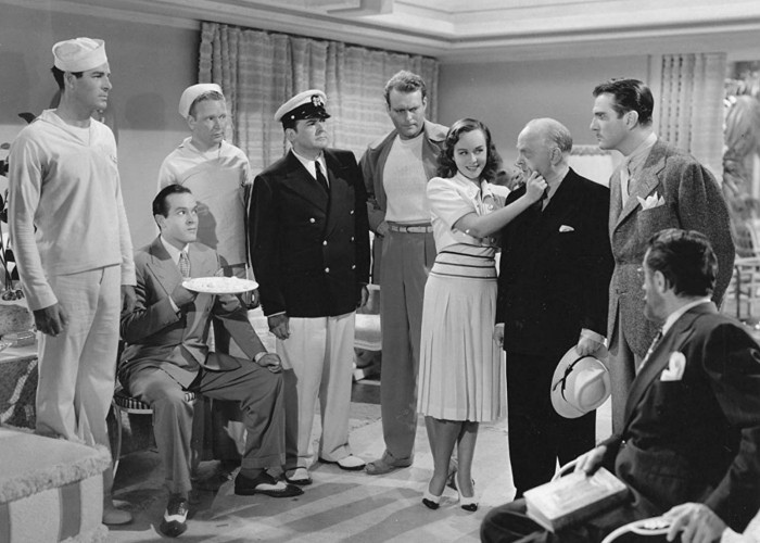 Bob Hope, Leif Erickson, Paulette Goddard, Edward Arnold, and Rod Cameron in Nothing But the Truth (1941)