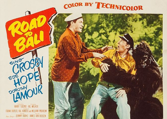 Bing Crosby and Bob Hope in Road to Bali (1952)