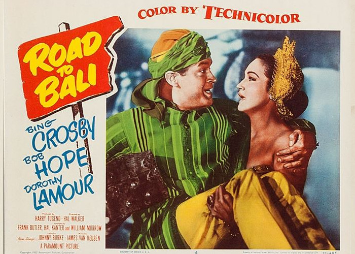 Bob Hope and Dorothy Lamour in Road to Bali (1952)