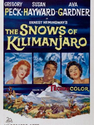 Gregory Peck, Ava Gardner, and Susan Hayward in The Snows of Kilimanjaro (1952)
