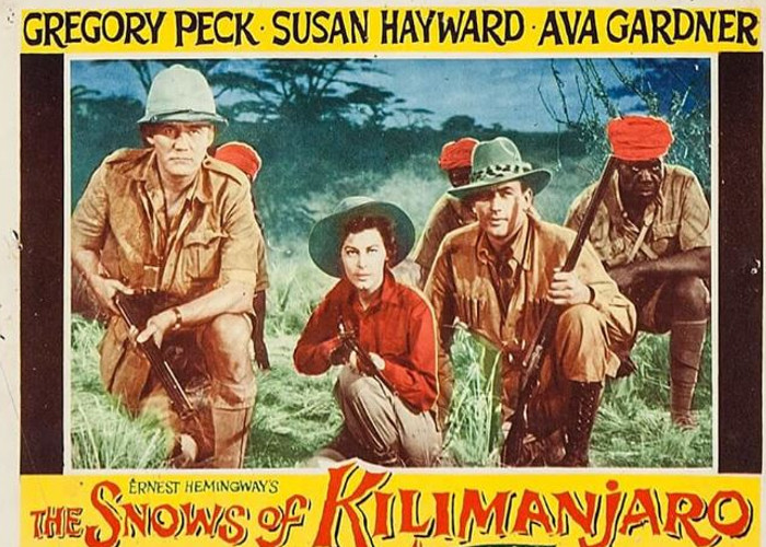 Gregory Peck, Ava Gardner, Emmett Smith, and Torin Thatcher in The Snows of Kilimanjaro (1952)
