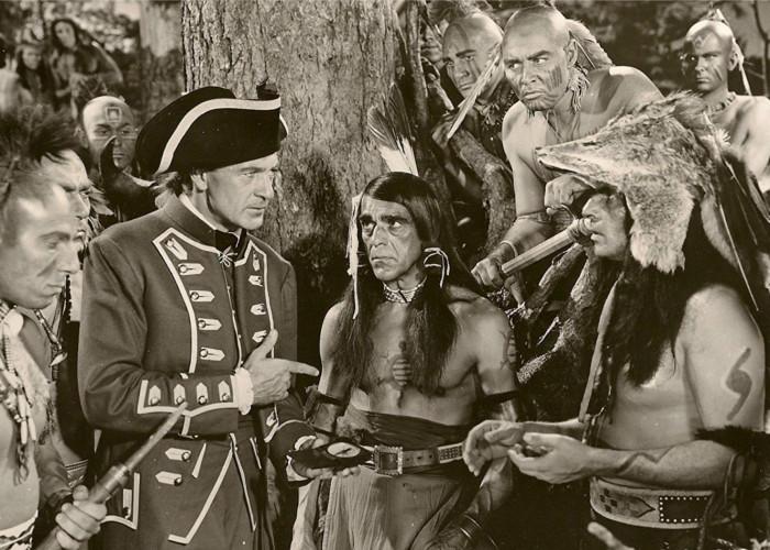 Gary Cooper and Boris Karloff in Unconquered (1947)